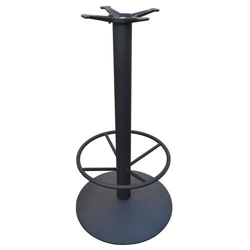 Our Cast Iron Round Bar Height Table Base with 22