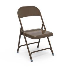 Quick Ship Multi-Purpose Steel Folding Chair with Mocha Finish - 17.75