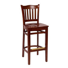 Princeton Mahogany Wood School Barstool - Wood Seat