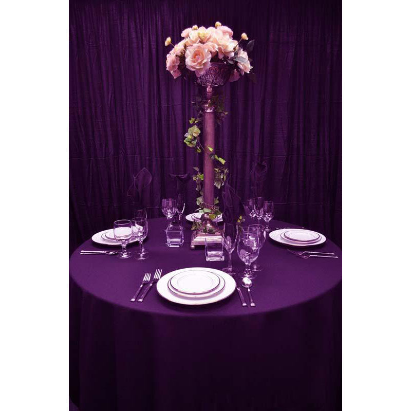 ... Our 60u0027u0027 X 108u0027u0027 Renaissance Stain Resistant Series Rectangular  Tablecloth   Eggplant