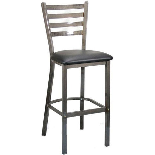 Metal Ladder Back Barstool with Clear Coat