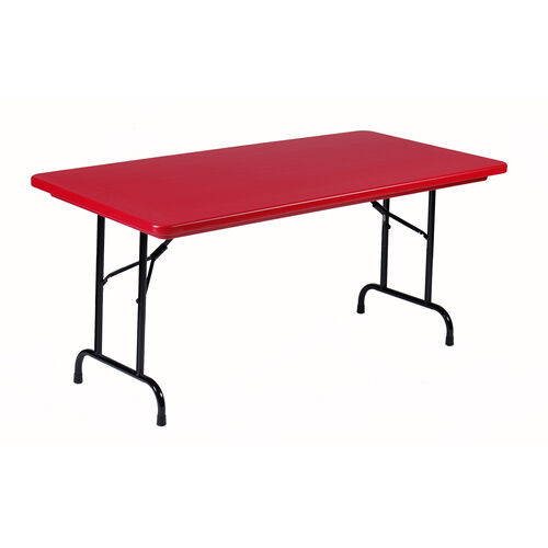 Our Standard Fixed Height Blow-Molded Plastic Top Rectangular Folding Table - 30