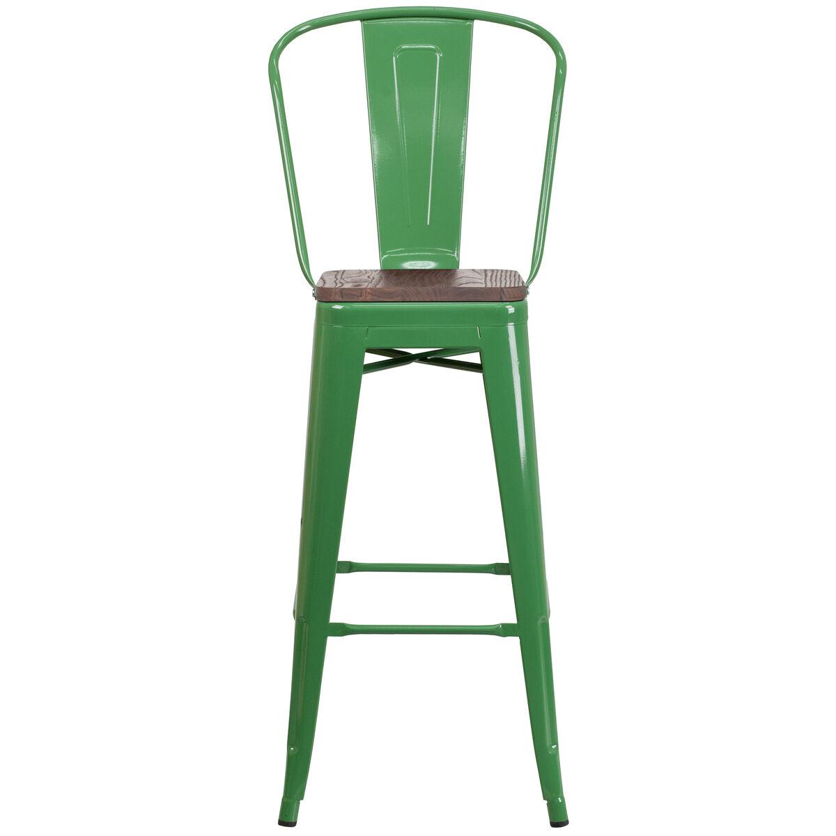 30 Green Metal Barstool Ch 31320 30gb Gn Wd Gg Bestchiavarichairscom