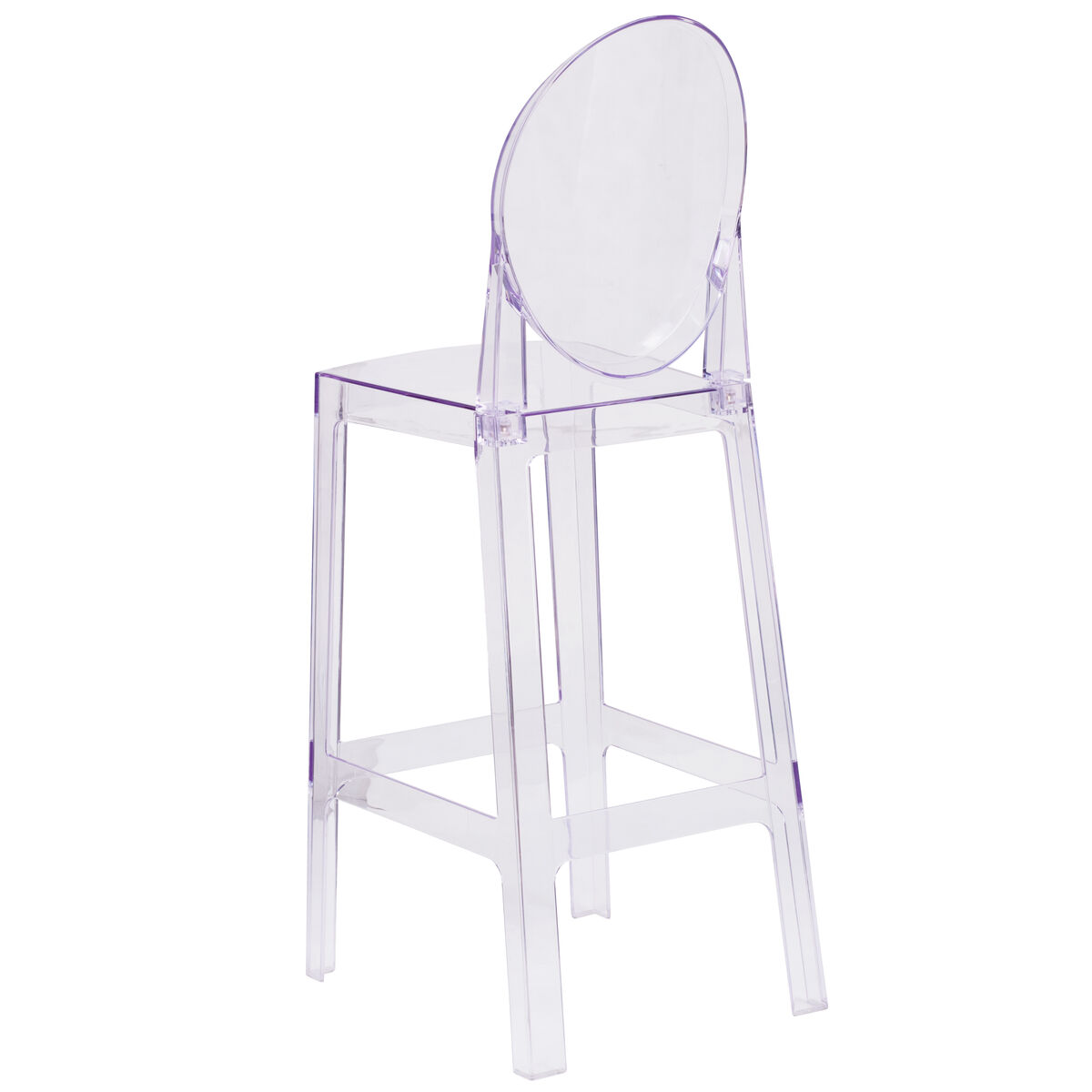 Awe Inspiring Ghost Barstool With Oval Back In Transparent Crystal Download Free Architecture Designs Rallybritishbridgeorg