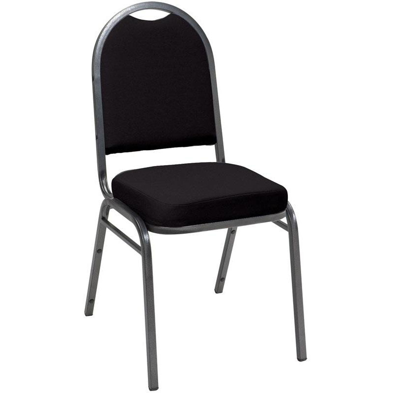 520 Series Stacking Armless Hospitality Chair With Rounded Back And 2