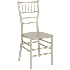"""HERCULES Series Champagne Resin Stacking Chiavari Chair with <span style=""""color:#0000CD;"""">Free </span> Cushion"""