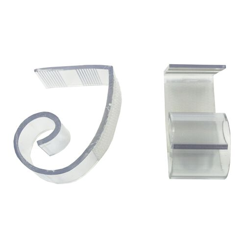 "Our Polycarbonate ""JV"" Skirting Clip for 1 1/2"" to 2"" Edge Tables - 100 Per Pack is on sale now."