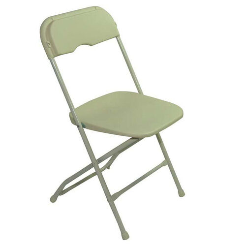 Our Champ Series Versatile Resin Wedding Folding Chair with Foot Caps - Beige is on sale now.