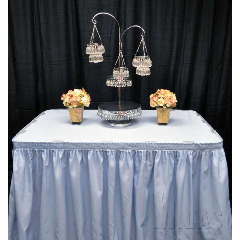 ... Our 13.5u0027 Renaissance Stain Resistant Series Pleated Table Skirt   Light  Blue Is On Sale