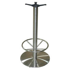 Stainless Steel Round Bar Height Table Base with 22