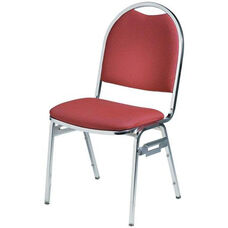 Convention Stacker Half Moon Back with Chrome Finish Chair