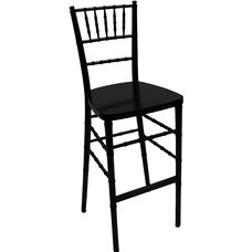 1000 lb. Max Black Resin Steel Core Chiavari Barstool