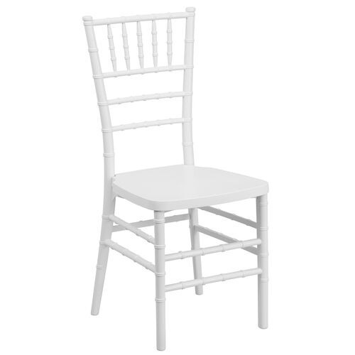 """Our HERCULES PREMIUM Series White Resin Stacking Chiavari Chair with <span style=""""color:#0000CD;"""">Free </span> Cushion is on sale now."""
