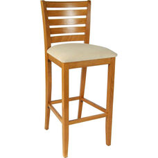 Ladder Back Bar Stool in Cherry Wood Finish