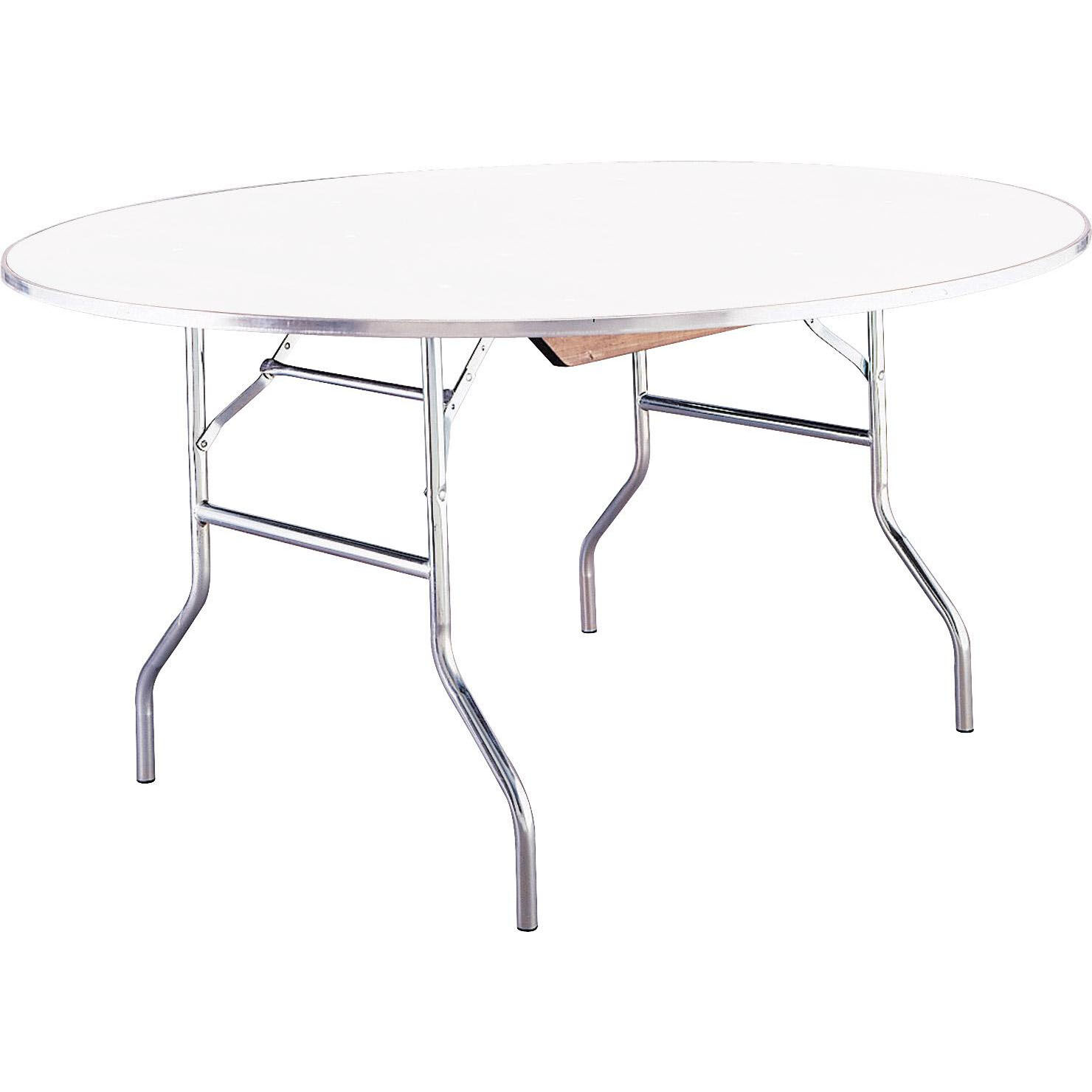 ... Our Standard Series 60u0027u0027 Round Folding Banquet Table With Aluminum Edge  And Mayfoam Top