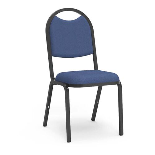 Our 8900 Series Stack Chair with Round Back and Dome Seat in Sedona Sailor Fabric and Black Frame - 18