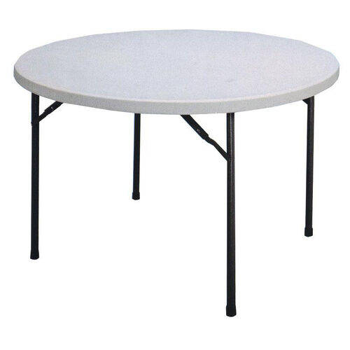 Our Economy Blow-Molded Round Plastic Top Folding Table - 60