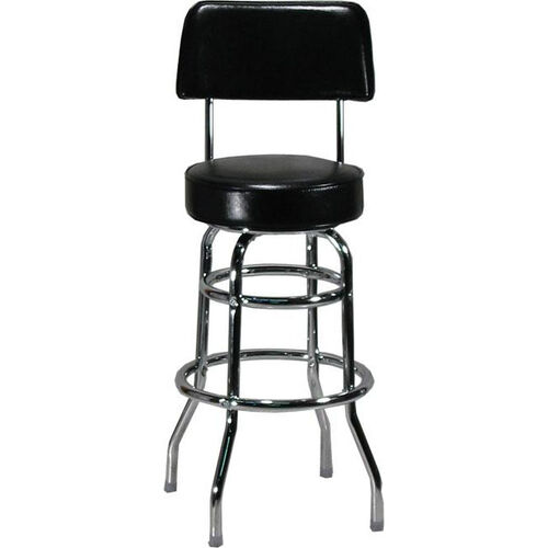 Our Double Ring Black Barstool with Back is on sale now.