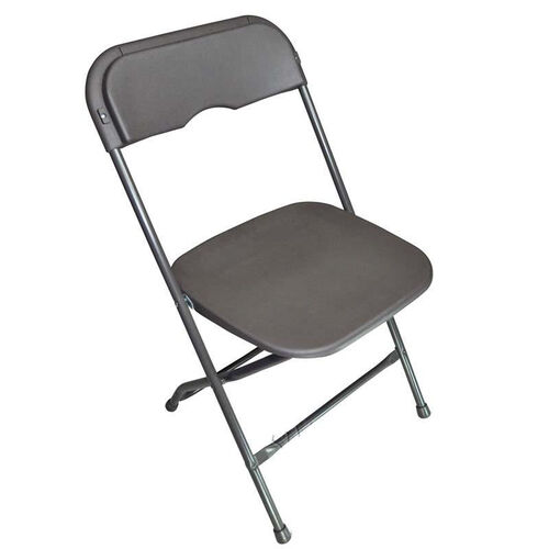 Our Champ Series Versatile Resin Wedding Folding Chair with Foot Caps - Charcoal Grey is on sale now.