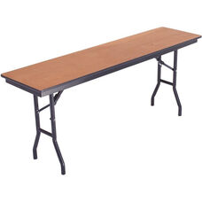 Laminate Top and Plywood Core Folding Seminar Table - 18''W x 72''D x 29''H