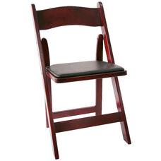 American Classic Red Mahogany Wood Folding Chair