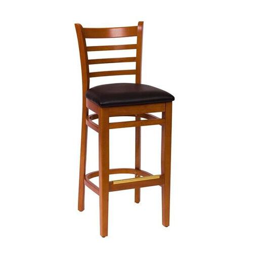 Our Burlington Cherry Wood Ladder Back Barstool - Vinyl Seat is on sale now.