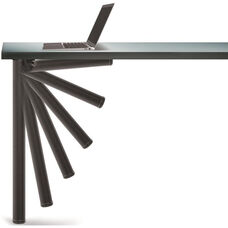 Matte Black Push-Button Set of 4 Foldable Table Legs with Mounting Hardware - 27.75