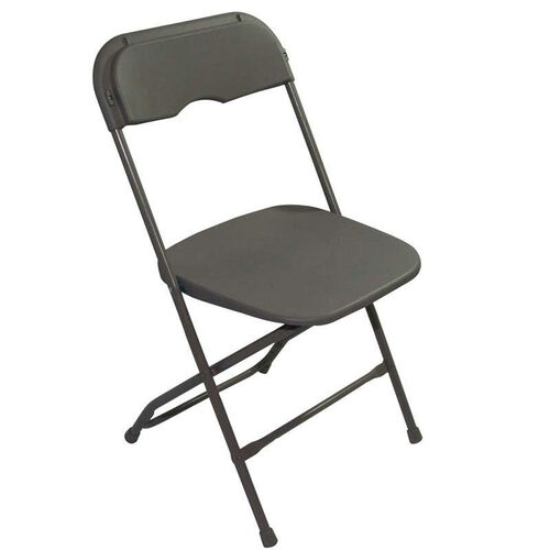 Champ Series Versatile Resin Wedding Folding Chair with Foot Caps - Neutral