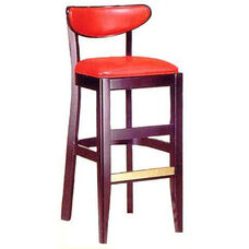 1940 Bar Stool w/ Upholstered Back and Seat - Grade 1