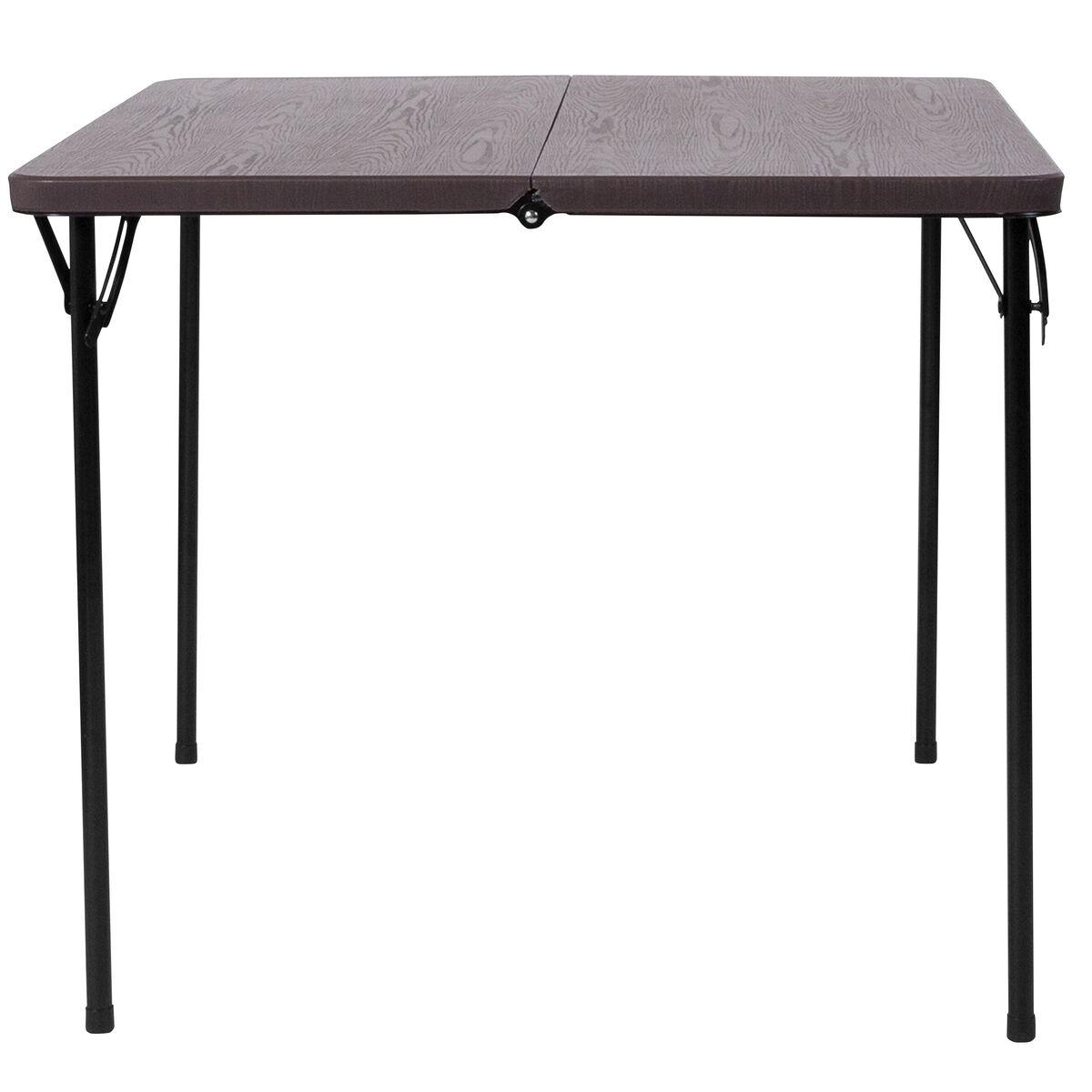 34sq brown plastic fold table dad lf 86 gg bestchiavarichairs com