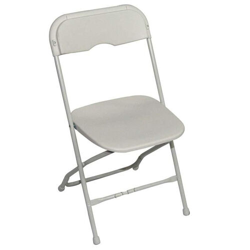 Champ Series Versatile Resin Wedding Folding Chair with Foot Caps - White