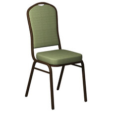 Crown Back Banquet Chair in Bedford Alfalfa Fabric - Gold Vein Frame