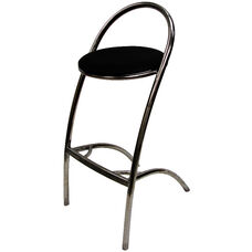 Z Barstool with Black Seat