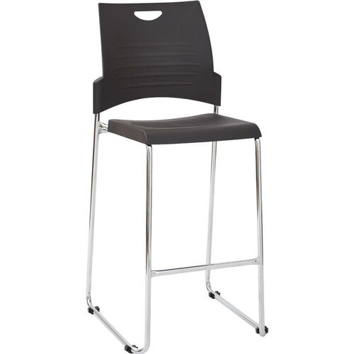 Our Work Smart Tall Stacking and Ganging Stool with Chrome Frame - Set of 4 - Black is on sale now.