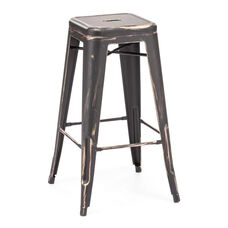 Marius Bar Chair in Antique Black Gold