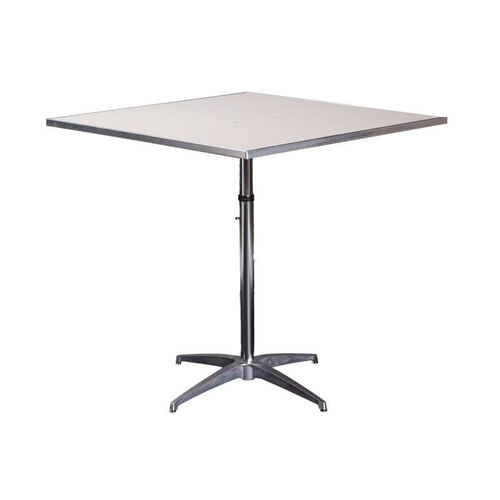 Height Adjustable Square Table MFSQPEDADJCAE BestChiavariChairscom - White square pedestal table